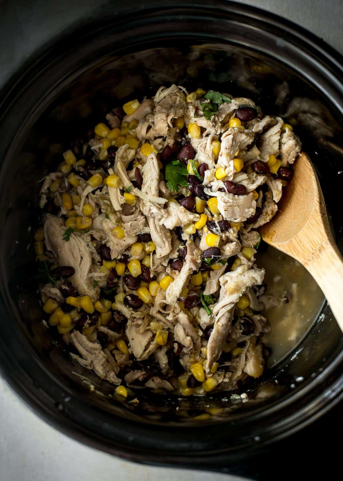 slow cooker green salsa chicken