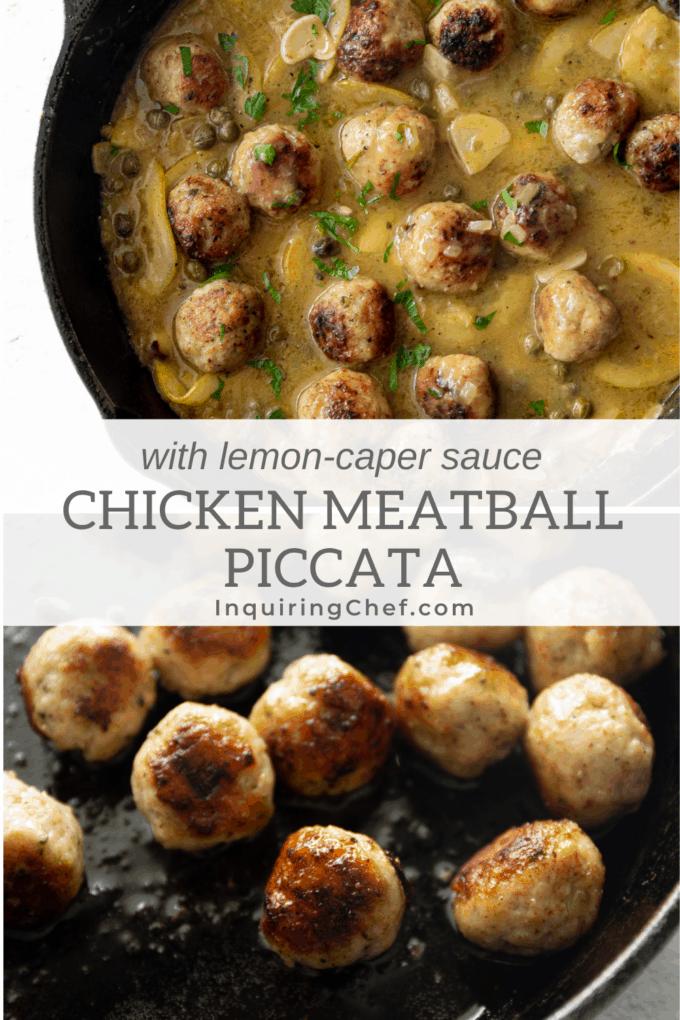 chicken meatball piccata