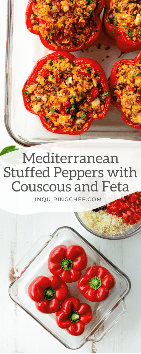 Mediterranean Stuffed Peppers with Couscous and Feta